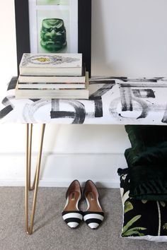 DIY Brushstroke Bench from Design*Sponge #diy #howto #bench #furniture