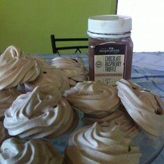 Your Inspiration at Home Chocolate Raspberry Truffle Meringues #YIAH #chocolate truffle