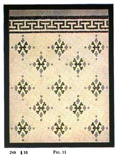 Floor mosaic tile pattern from 1916 tile design manual.
