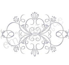 Vintage Flourish Accent Frame 3 Sizes by Embroitique on Etsy
