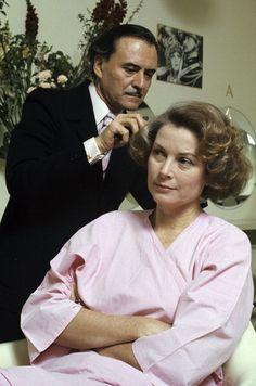 Master hairstylist Alexandre with Princess Grace at his salon on the Faubourg Saint-Honoré, Paris, photo by Jean-Claude Deutsch, 1976