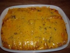 Easy Beef Enchiladas...for the day AFTER Thanksgiving!
