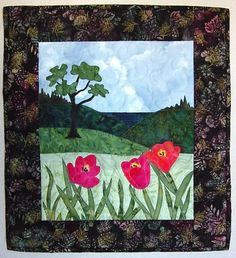 Picture Window Quilted Wall Hanging
