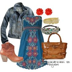 Western Chic- but with real cowboy boots
