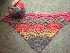 Shawl Pattern:  Free crochet pattern from Ravelry