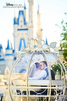 """..and they lived happily ever after."" #Disney #wedding #Cinderella #castle"