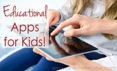 Favorite Educational Apps For Kids ~ Homeschooling with the Ipad www.oneshetwoshe.com