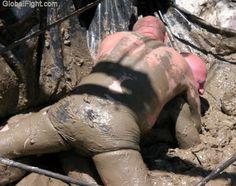 muddy farm wrestling pit