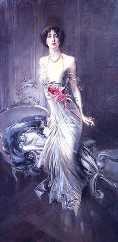 Boldini Giovanni Portrait of Madame E. L. Doyen. Джованни Boldini