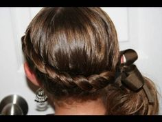 Wrap Around French Side Ponytail