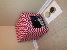 Dog crate cover #chevron. I want the pattern to sew this!!