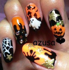 halloween nail❤ - Nail Art Gallery by www.nailsmag.com #nailart