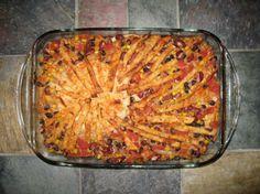 Mexican Layered Casserole Vegan