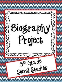 Biography Project-5th Grade Social Studies
