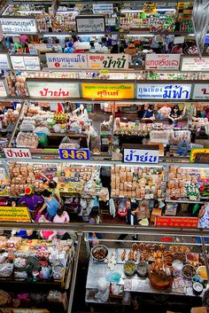 top down view of Warorot Market, Chiang Mai, Thailand.  Photo: John and Tina Reid via Flickr