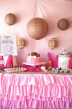 themed birthday parties, football baby shower ideas, football girl baby shower, birthday themes, first birthdays, baby girl 2nd birthday party, babi shower, football birthday, baby showers