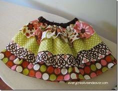 Every Creative Endeavor: Tiered Ruffle Skirt