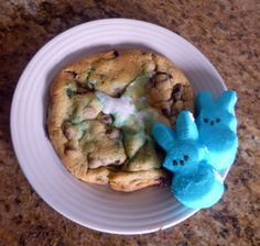 Peeps Marshmallow Chocolate Chip Cookies