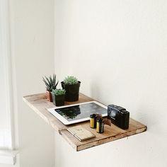 Simple raw wooden shelf