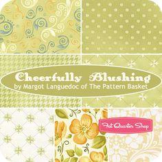 Cheerfully Blushing Fat Quarter Bundle Margot Languedoc for Henry Glass Fabrics