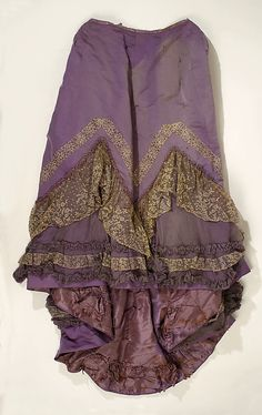 Evening Dress: Skirt, House of Worth 1890, French, Made of silk and cotton