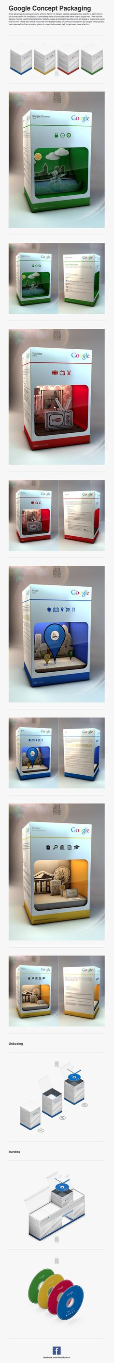 Google packaging concept. #packaging #design #inspiration PD