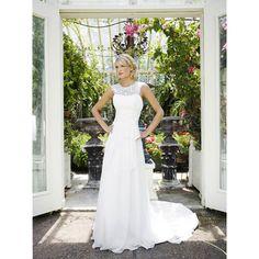 Long Chiffon Outdoor Wedding Dress