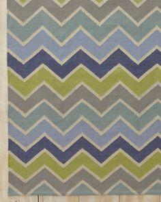 Chevron Indoor-Outdoor Flat-Weave Rug