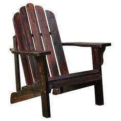 Marina Indoor/Outdoor Adirondack Chair in Burnt Brown from Joss & Main