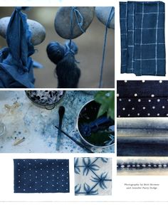 An exclusive collection of Britt Browne's shibori-dyed   table linens, crafted by hand and drenched in deep indigo.