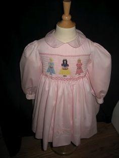 smocked dresses, smock dress, pink princess, princess dresses, smock plate