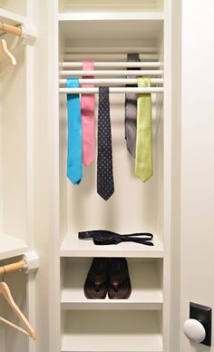 It's Bath Time | Young House Love | walk in closet built in tie rack