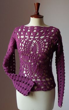 Crocheted Clothing on Etsy - Crocheted dresses, shawls, sweaters