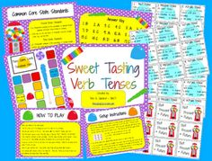 Free Verb Tenses Center/Station Activity Game for your Classroom....