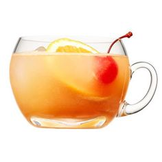 Festive Planter's Punch for a Crowd - Combine 1 quart each pineapple juice and orange juice, 1 1/2 cups dark rum, 1/4 cup each lime juice and grenadine. Refrigerate. Just before serving add 2 cans club soda, orange slices, 1 jar drained maraschino cherries and ice. Serves 16.