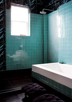 Color teal home decor on pinterest teal bedrooms teal for Black and teal bathroom ideas