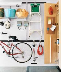 organized garage, Real Simple, Get This Look - Simple Tips for Garage Organizing from Remodelaholic.com #garage #organizing #tips @Remodelaholic