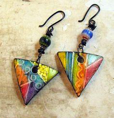rainbow triangl, polym clay