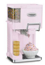 WANT! > Cuisinart Pink Mix It In™ Soft Serve Ice Cream Maker.....i wantttt