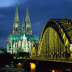 Germany - Cologne Cathedral & Hohenzollern Bridge