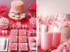 Plan some sweet treats for your loved ones this Valentine's Day. We love this all pink theme! http://www.ivillage.com/celebrating-valentines-day-kids/6-a-519945
