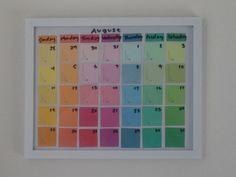 Paint swatch calendar DIY