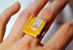 Miniature Nintendo Cartridge Rings