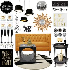 Black and Gold New Year's Party