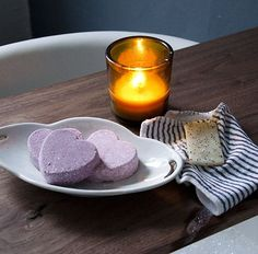 DIY Heart-Shaped Bath Bombs #diy #bath