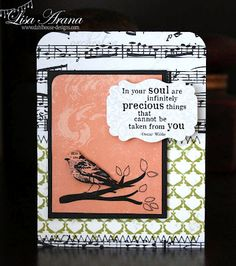 {precious THINGS} stamp of the week from unity stamp company - card created by unity design team member lisa arana