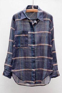 Check Organza Viane Shirt by Isabel Marant
