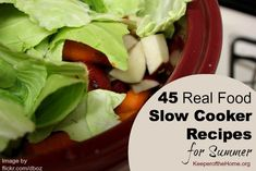 45 Real Food Slow Cooker Meals for the Summer {KeeperoftheHome.org}