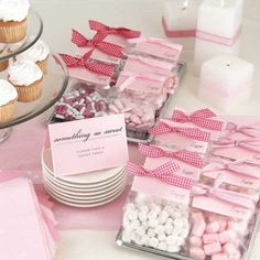 Candy favors for a little girl baby shower.