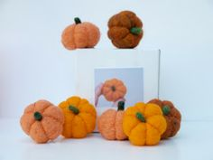 Needle Felting Kit, How to needle felt a pumpkin